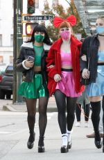 Lili Reinhart, Camila Mendes & Madelaine Petsch out dressed for Halloween in Vancouver