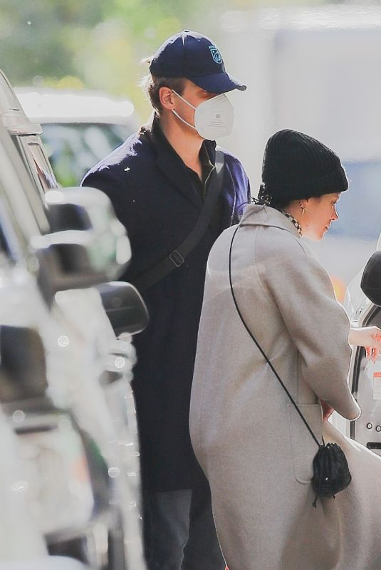 Lily Allen & David Harbour Seen getting in uber together in New York City