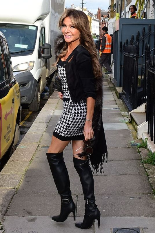 Lizzie Cundy Seen out and about in London