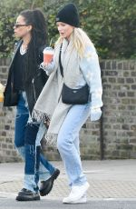 Lottie Moss Pictured enjoying a juice while out with friends in Primrose Hill