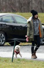 Lucy Hale Out with her dog in NYC