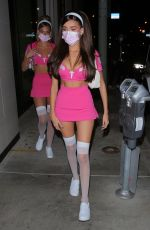 Madison Beer Bootie cheeks peeks outside Catch in West Hollywood