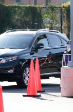 Malin Akerman Gets tested for COVID-19 before visiting a friend on Saturday afternoon in Los Angeles