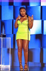Megan Thee Stallion Attends the 48th Annual American Music Awards at Microsoft Theater in Los Angeles