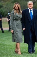 Melania Trump About to board Air Force One at Andrews Air Force Base Maryland