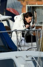 Michelle Keegan Filming TV Show Brassic in Wales