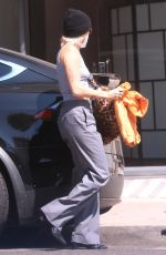 Miley Cyrus Leaving the hair salon in LA