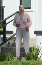 Mischa Barton Outside her LA home