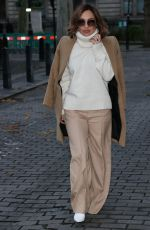 Myleene Klass Looks chic in flares joins stars at Global radio in London