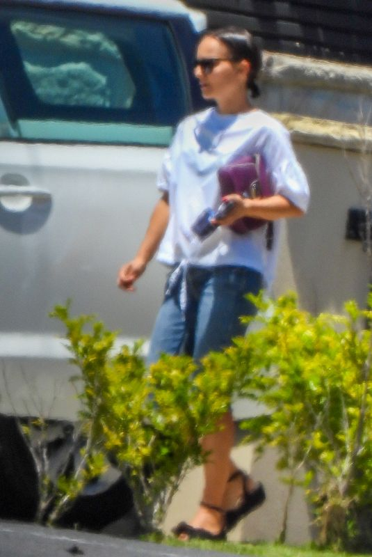 Natalie Portman On her way to pre production at Fox Studios