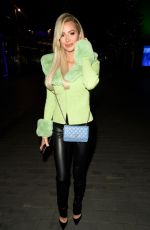 Olivia Attwood Seen leaving The XYZ Bar in Manchester after filming for her new show Olivia Meets Her Match