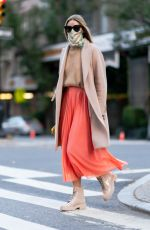Olivia Palermo Is pictured out on a stroll in New York