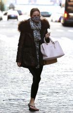 Olivia Palermo Wears flip-flops after pedicure in NYC