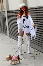 Phoebe Price Seen in the Halloween spirit in Los Angeles
