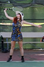 Phoebe Price Shows off some tennis moves in Los Angeles