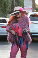 Phoebe Price Steps out in a colorful outfit to go to the store in Los Angeles