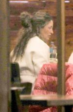 Rebecca Gayheart Keep safe wearing their masks as they enjoy a late-night dinner in Beverly Hills