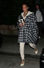 Rihanna Steps out make up free for a late night dinner in Santa Monica