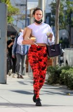 Sara Sampaio Picks up drinks after her workout at the Dogpound gym in Los Angeles