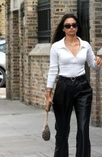 Shanina Shaik Leaving lunch at Scallini