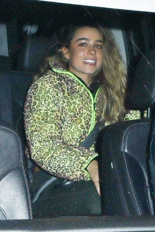 Sommer Ray Is all smiles while leaving dinner with a mystery guy in Los Angeles