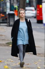 Sophie Cookson Out and About in London