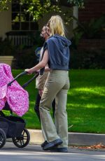 Sophie Turner On her daily walk with her daughter Willa around her neighborhood in Los Angeles