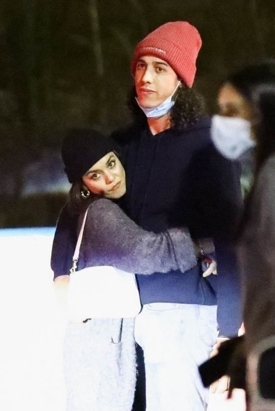 Vanessa Hudgens Hugging her new boyfriend after dinner in Los Angeles