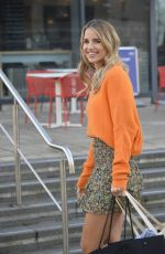 Vogue Williams Laughs as she leaves filming of Steph