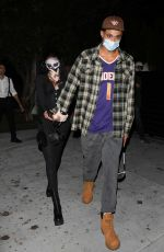 Winnie Harlow & Kylie Kuzma are both in costumes leaving Stassie Halloween Party