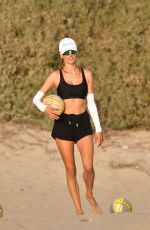 Alessandra Ambrosio Plays volleyball game with friends in Santa Monica