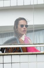 Alessandra Ambrosio Seen having lunch with her family in Florianópolis