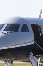 Alex Rodriguez & Jennifer Lopez Are seen arriving in Miami after a few days in New York City