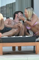 Amber Turner Relax by the pool and takes selfies during a recent holiday in Turkey