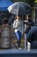 Anne Hathaway Filming in London