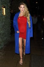 Ashley James Enjoys a night out with a friend at Novikov restaurant in Mayfair, London