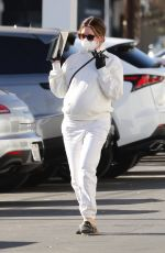 Ashley Tisdale Dons all white during a shopping trip in Van Nuys