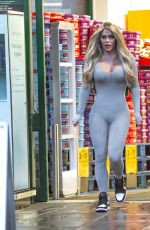 Bianca Gascoigne Shows off her breast reduction as she heads to Morrisons in Kent yesterday afternoon