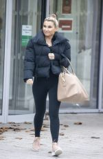 Billie Faiers Leaving slough ice rink after an assessment as all contestants are given a progress report