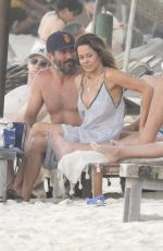 Brooke Burke As she hits the beach in Tulum in Mexico