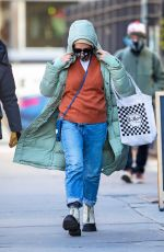 Busy Philipps Bundled up in a cold day in New York City