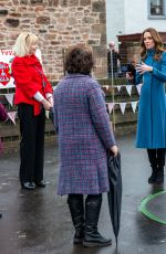 Catherine Duchess of Cambridge Meets staff and pupils from Holy Trinity Church of England First School in Berwick-Upon-Tweed