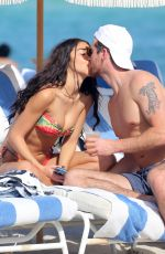 Chantel Jeffries Enjoy a relaxing day at the beach in Miami in Florida