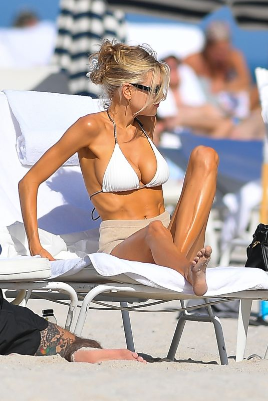 Charlotte McKinney Hits the beach in Miami