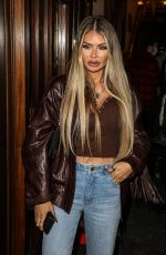 Chloe Sims Seen at the Press Night for A Christmas Carol at the Dominion Theatre in London