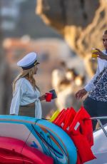 Chrishell Stause & Cassie Scerbo Enjoy a boat day with their boyfriend Keo Motsepe and Gleb Savchenko in Cabo San Lucas