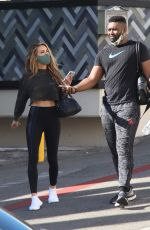 Chrishell Stause Seen loved up after a tandem workout with DWTS fellow member and new boyfriend Keo Motsepe in Beverly Hills