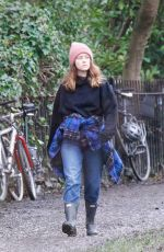 Claire Foy Out for a walk in London