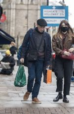 Daisy Edgar-Jones Out for some last minute Christmas shopping with her father Philip in London