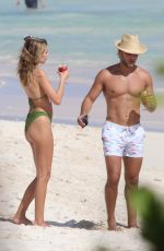 Delilah Belle Hamlin On the beach with Eyal Booker in Tulum